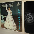 1950s RENATA TEBALDI LP VERDI La Traviata Highlights London 5344 ffrr Ex / Ex