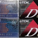 4 NEW SEALED NORMAL BIAS blank Cassette Tapes Two TDK Two Sony FREE SHIP in US