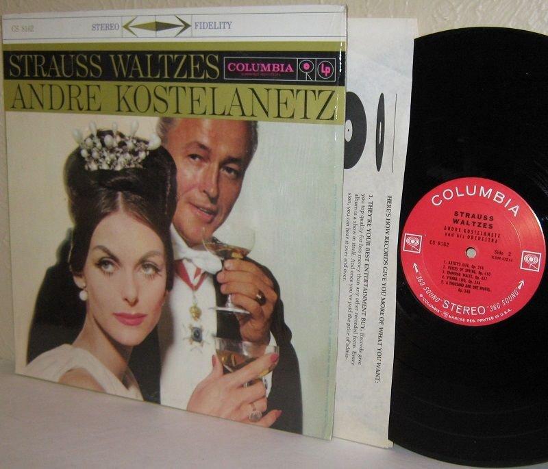 """1960s ANDRE KOSTELANETZ LP Strauss Waltzes NM / Ex in Shrinkwrap """"360 Sound"""""""