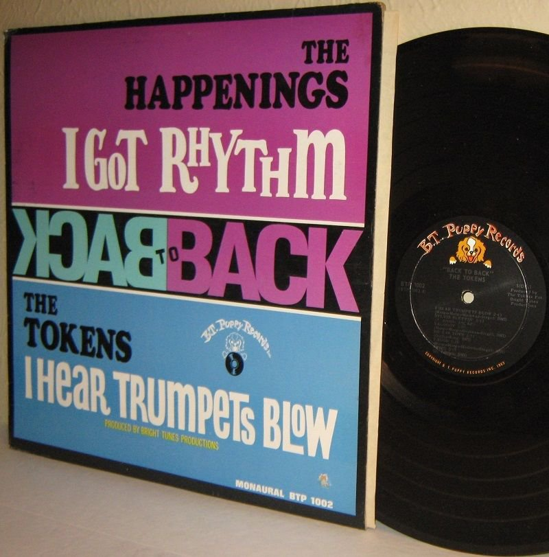 1967 THE HAPPENINGS and THE TOKENS LP Back To Back with I Got Rhythm