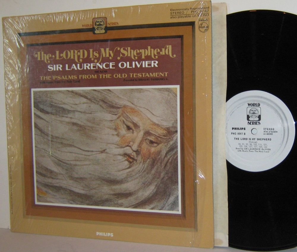 '60s SIR LAURENCE OLIVIER LP The Lord Is My Shepherd - MINT MINUS in Shrinkwrap