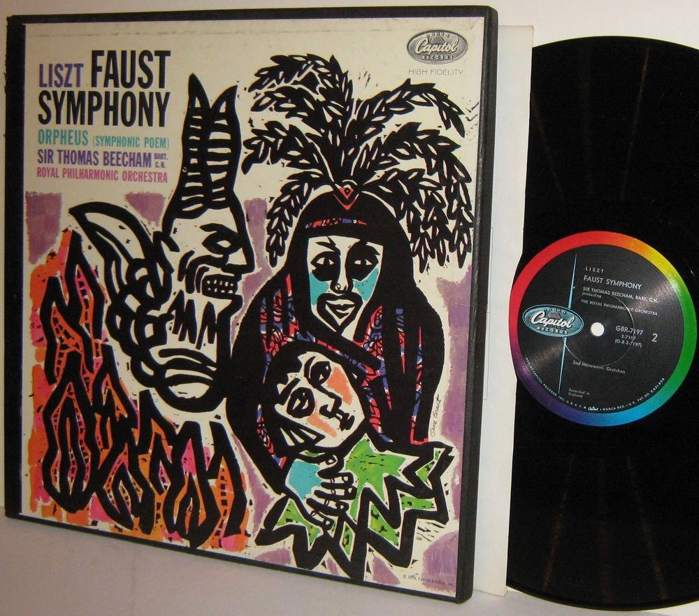 LISZT Sir Thomas Beecham Royal PO FAUST SYMPHONY 2LP Box NM Vinyl MONO