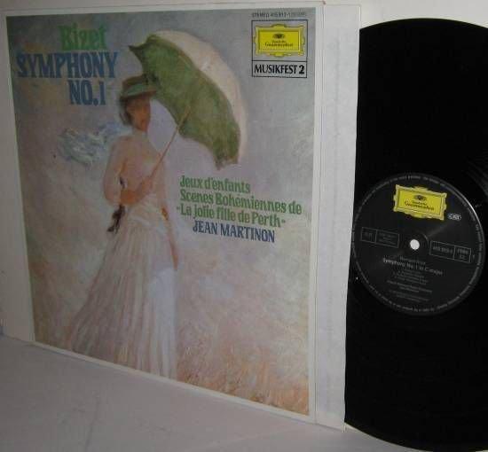 BIZET Symphony No 1 Scenes Bohemiennes Jeux d'enfants MARTINON DG LP