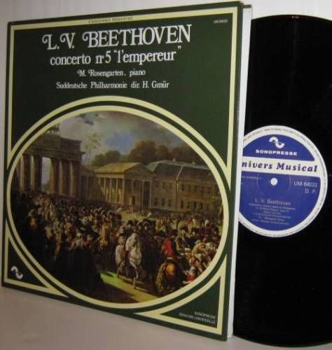 BEETHOVEN No. 5 l'empereur Suddeutsche PO Sonopresse LP