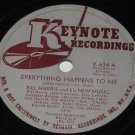 Keynote 78rpm BILL HARRIS and his NEW MUSIC Everything Happens To Me   (1946)