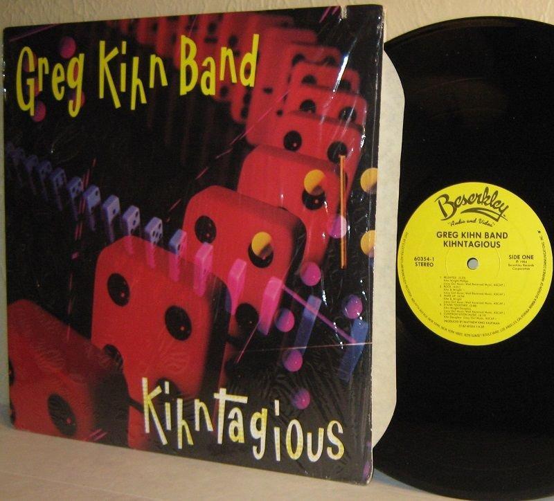 1984 GREG KIHN BAND Kihntagious Ex / Ex in Shrinkwrap on Beserkley