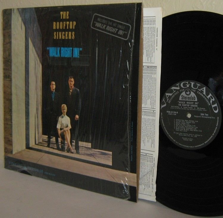 '63 THE ROOFTOP SINGERS LP Walk Right In!  M- / VG+ Rare STEREOLAB Erik Darling