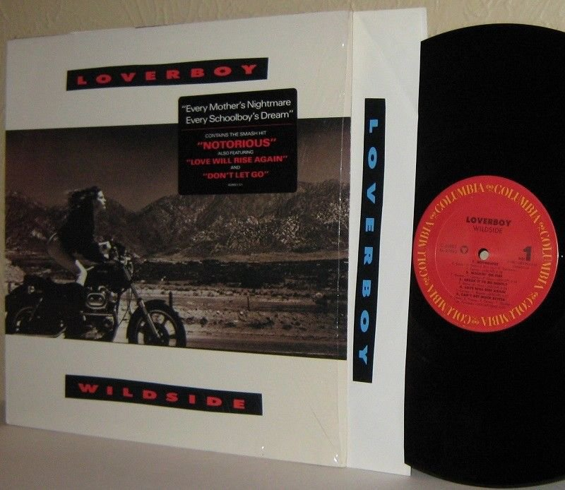 '87 LOVERBOY LP Wildside MINT MINUS in Shrinkwrap Lyrics Sleeve and Plug Sticker
