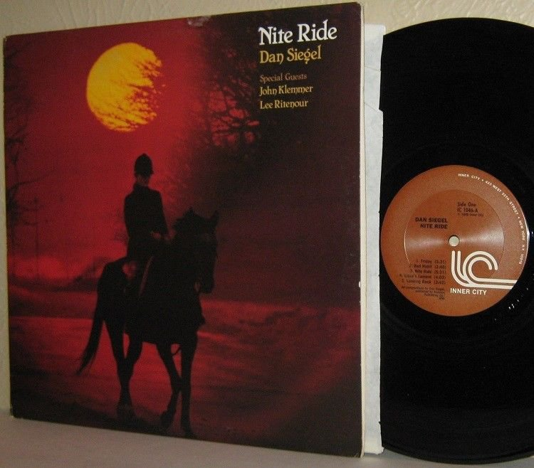 1980 DAN SIEGEL LP Nite Ride Ex / VG+ with JOHN KLEMMER LEE RITENOUR Inner City