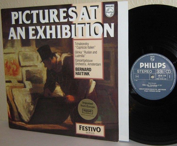 MOUSSORGSKY Pictures At An Exhibition LP BERNARD HAITINK Philips Dutch Press M-