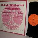 1985 GDANSK CHAMBER CHOIR LP Schola Cantorum Gedanensis NEAR MINT German Press