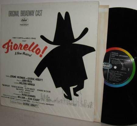 '60 Cast LP: FIORELLO! Orig Logo on Left Issue MONO -Ex