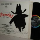 '60 Cast LP: FIORELLO! Orig Logo on Left Issue MONO -Ex