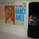 1963 Folk Songs By NANCY AMES LP A Portrait Of Nancy Ex / Ex MONO