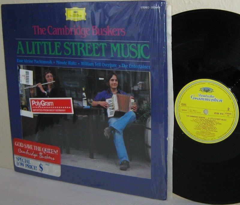 1981 CAMBRIDGE BUSKERS LP A Little Street Music NEAR MINT Shrink DG German Press
