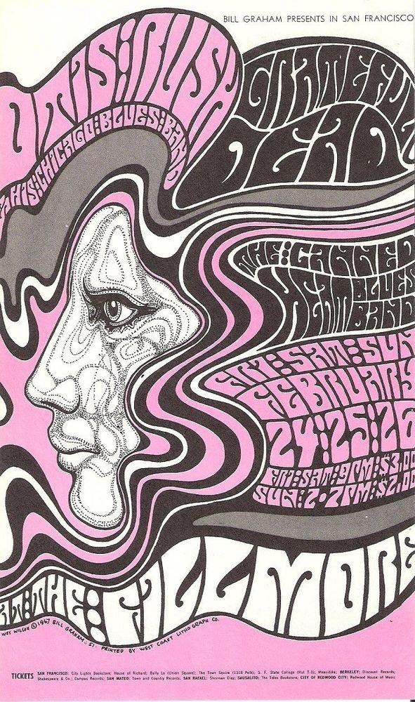 1967 FILLMORE POSTCARD BG-51-PC-A Grateful Dead, Canned Heat