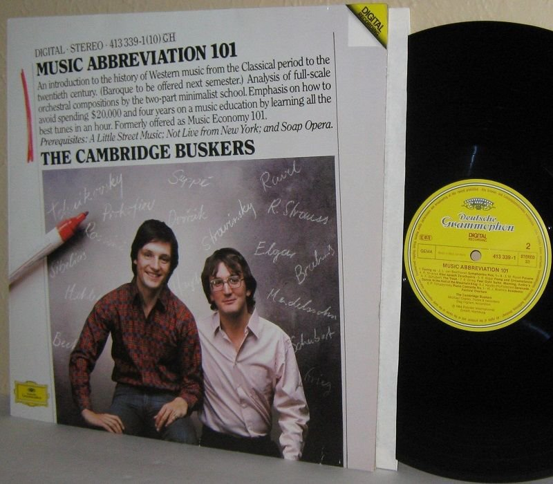 1984 CAMBRIDGE BUSKERS LP Music Abbreviation 101 NEAR MINT DG German Press