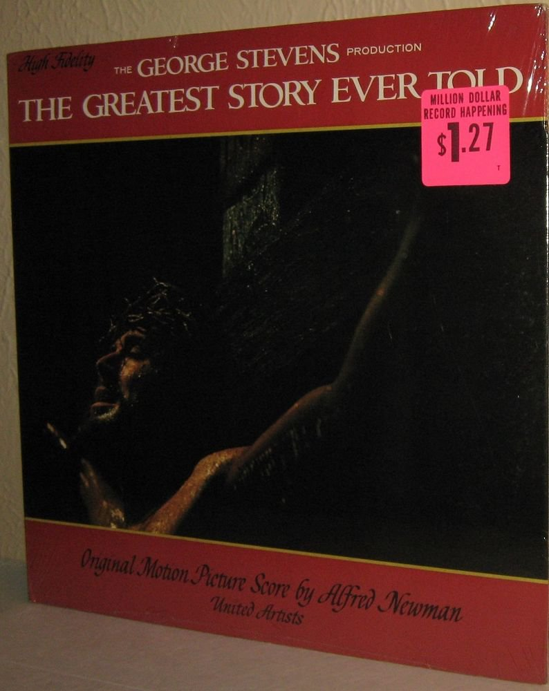 1965 ALFRED NEWMAN OST LP The Greatest Story Ever Told - STILL FACTORY SEALED