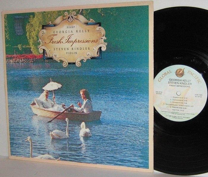 1987 GEORGIA KELLY Harp STEVEN KINDLER Violin LP Fresh Impressions Ex / VG+