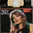 '78 BONNIE TYLER Promo 45 PS If I Sing You A Love Song