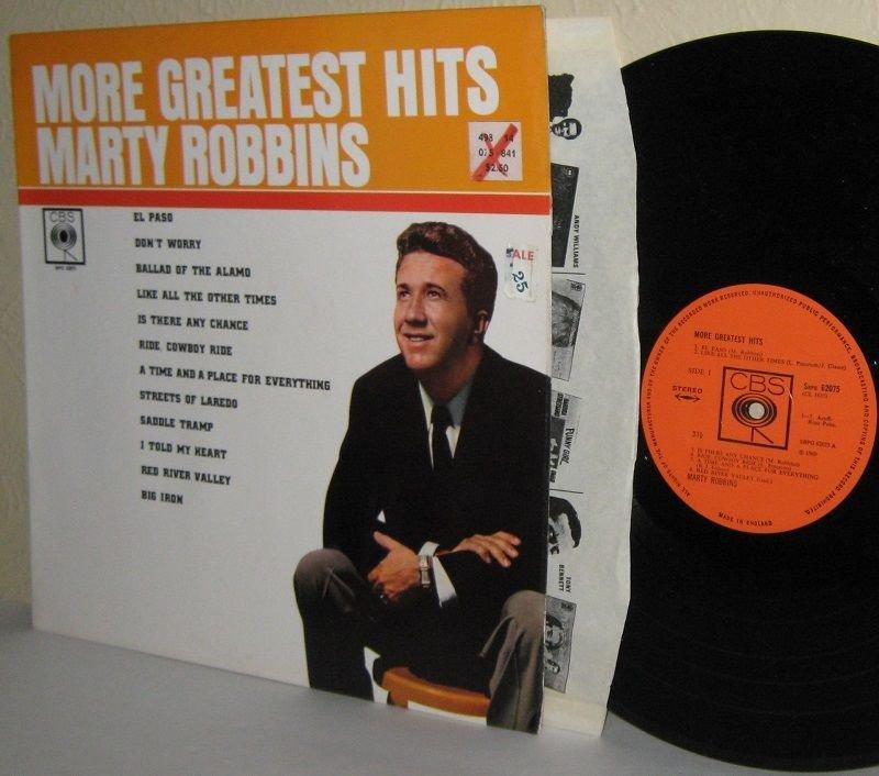 More Greatest Hits By MARTY ROBBINS LP U.K. Pressing Ex / Ex
