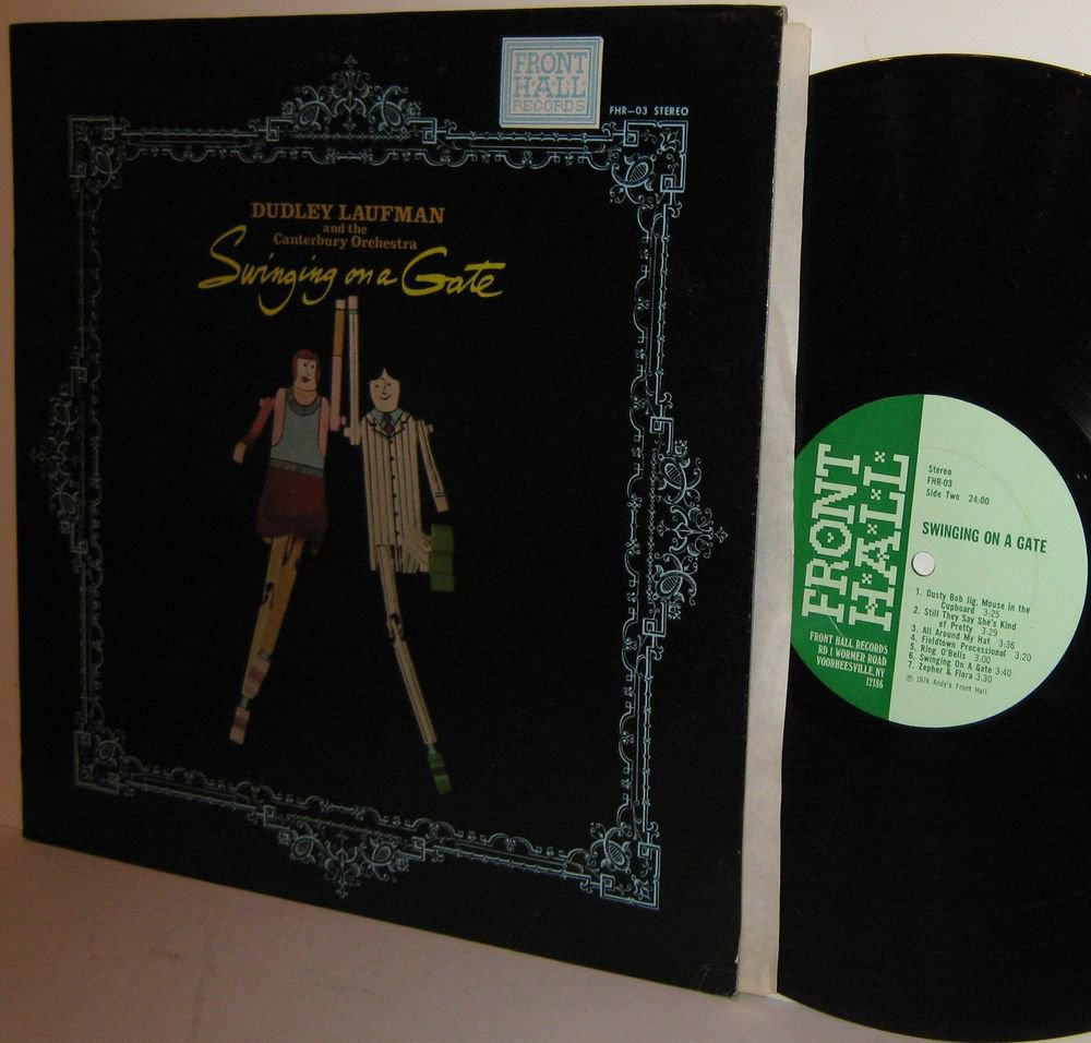 '74 DUDLEY LAUFMAN & The CANTERBURY ORCHESTRA Folk LP Swinging on a Gate