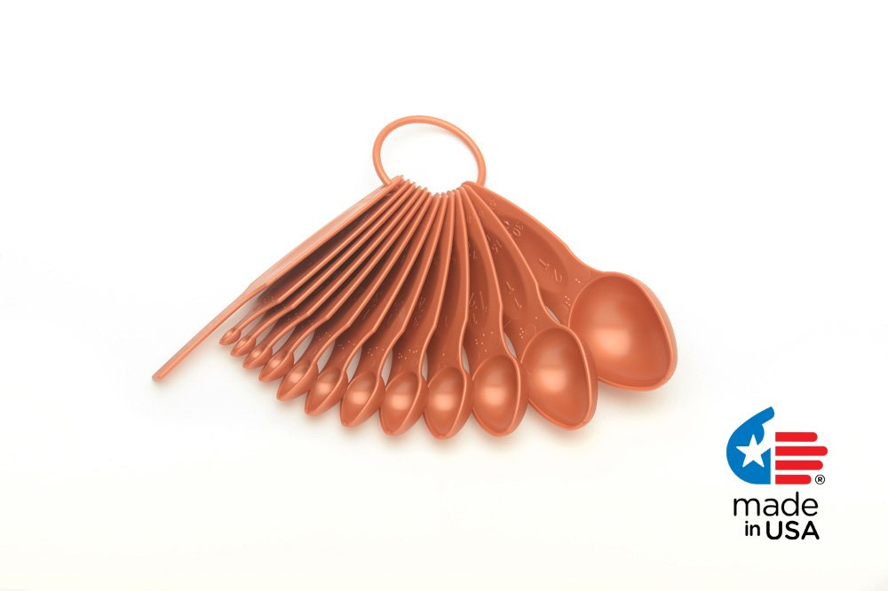POURfect 13pc Measuring Spoon Set Satin Copper Made in USA