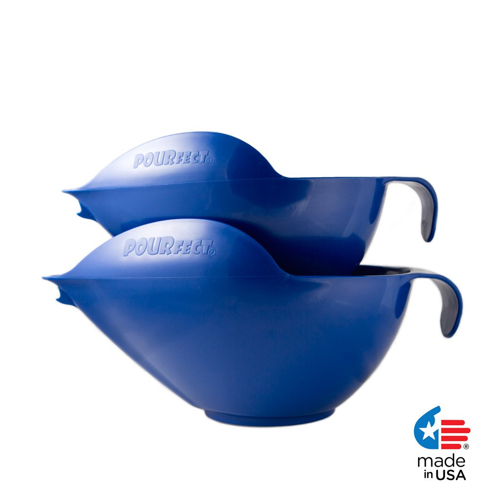 POURfect Mixing Bowls 1010 - 6 & 8 Cups Blue Willow Made in USA