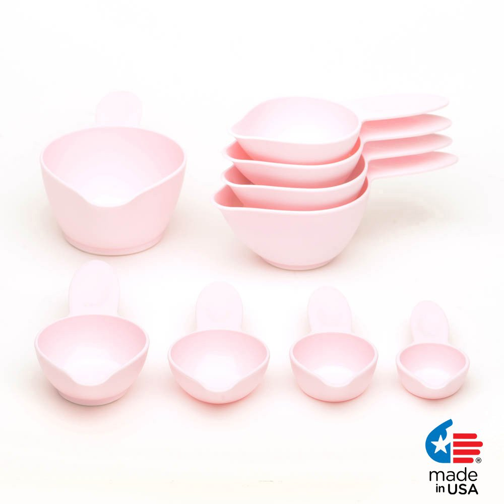 POURfect Measuring Cup Set 9pc Pink Made in USA