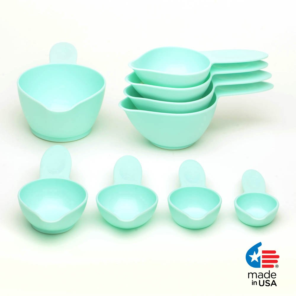 POURfect Measuring Cup Set 9pc Ice Blue Made in USA