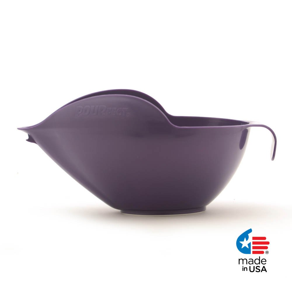 POURfect Mixing Bowl 1020 - 12 Cup Dark Plum/Purple Made in USA