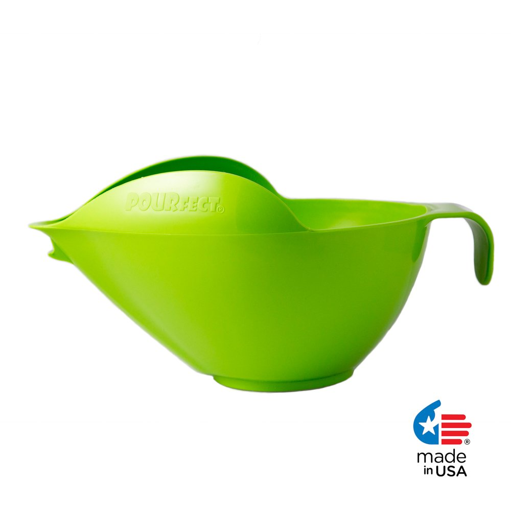 POURfect Mixing Bowl 1020 - 12 Cup Green Apple Made in USA
