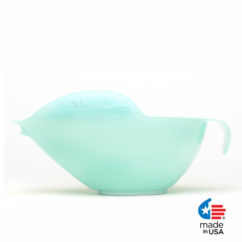 POURfect Mixing Bowl 1020 - 12 Cup Ice Blue Made in USA