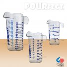 POURfect Liquid Measuring Beaker 1-2-4 Cup Clear Made in USA
