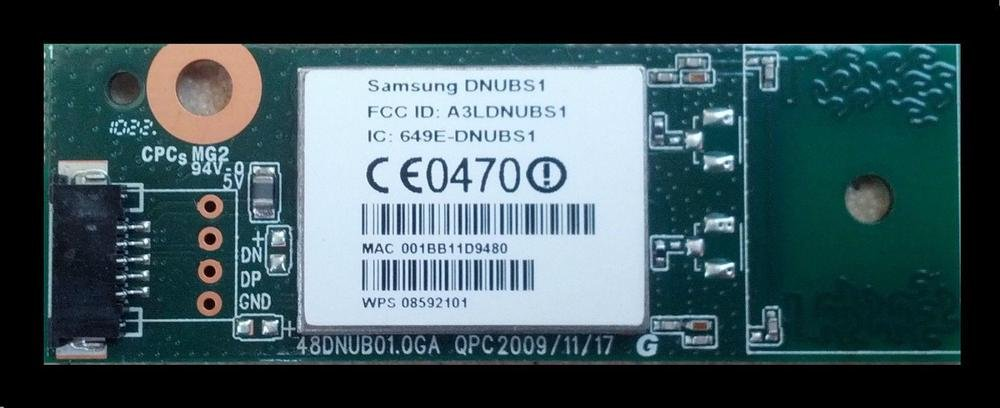 Samsung AK96-01284A  Wireless Lan Module, Network, DNUBS1