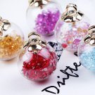 B1  17MM Glass Bead Ball Pendants/Findings/Loose Beads, 9 pics