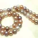 J35 AA+ 9-10mm Brighten Full White South Sea Cultured Pearl Round Bead Choker