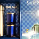NEW 3 PC.Stainless Steel Insulated Thermos 17 oz &2 Cups 9oz Travel Mug Gift Set