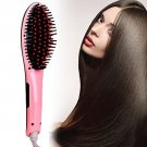 Electric Hair Straightener Comb Brush LCD Ion Anti-Scald Tool Massager UK or US Plug