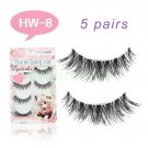Amazing 5 PAIR SOPHISTICATED SOFT CROSS FALSE EYELASH LONG MAKEUP EYELASH EXTENSION