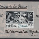 Spain, Picasso 1981, s/sheet, MNH**