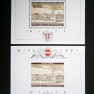 Austria 1981, perf.+imperforated, 2 s/s, MNH**