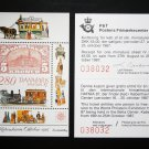 Denmark 1987, s/s +exhibition ticket.