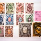 Russia 1889-1904, full set, vertical laid paper, used,