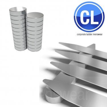 2.2inch Magnetic Collar Stays - Steel (10 Pairs, 20 Magnets)  40 pcs total