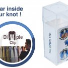(10 pack) Dimple Clip Necktie Tool with Smooth Edges (dimpler, windsor, tie, suit, wurking stiffs)