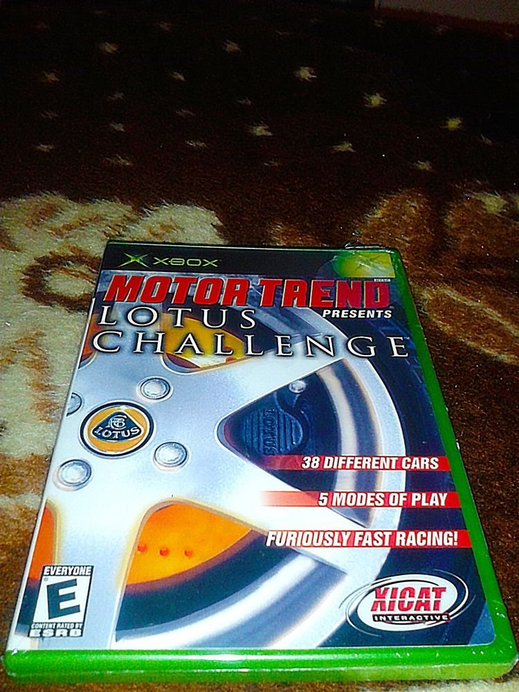 BRAND NEW IN BOX FACTORY SEALED Motor Trend Presents Lotus Challenge FOR XBOX
