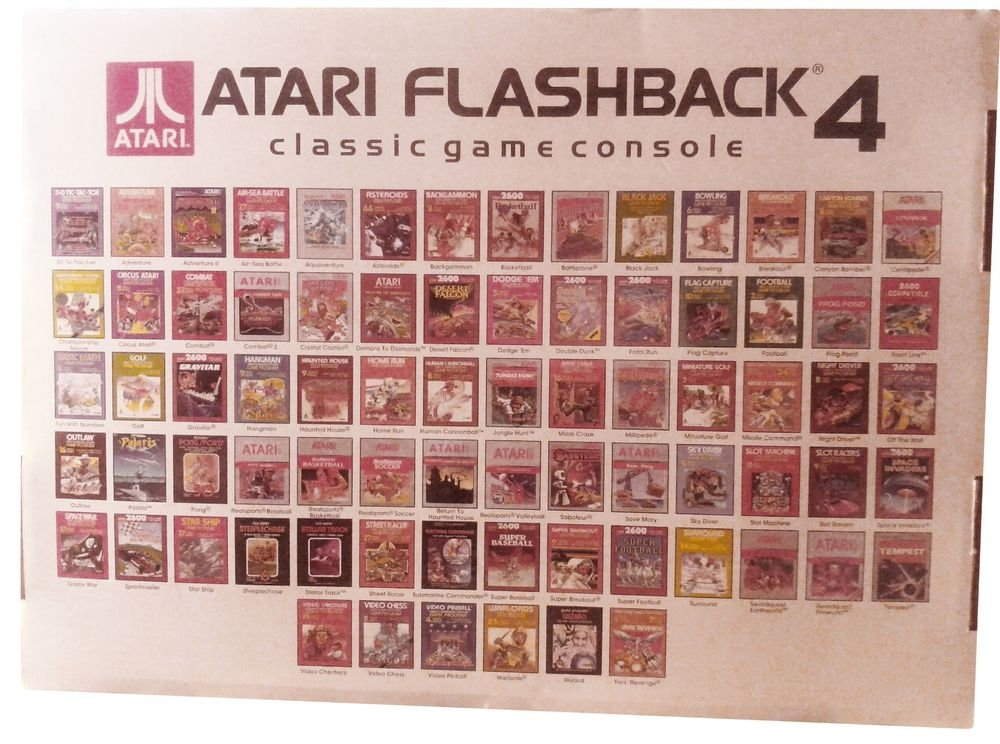 Atari Flashback 4 Classic Console Game New 75 Games 2 Controllers