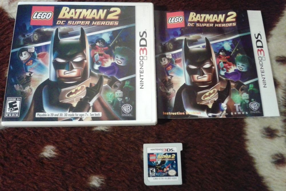 LEGO Batman 2: DC Super Heroes (Nintendo 3DS, 2012) USED FREE SHIPPING COMPLETE