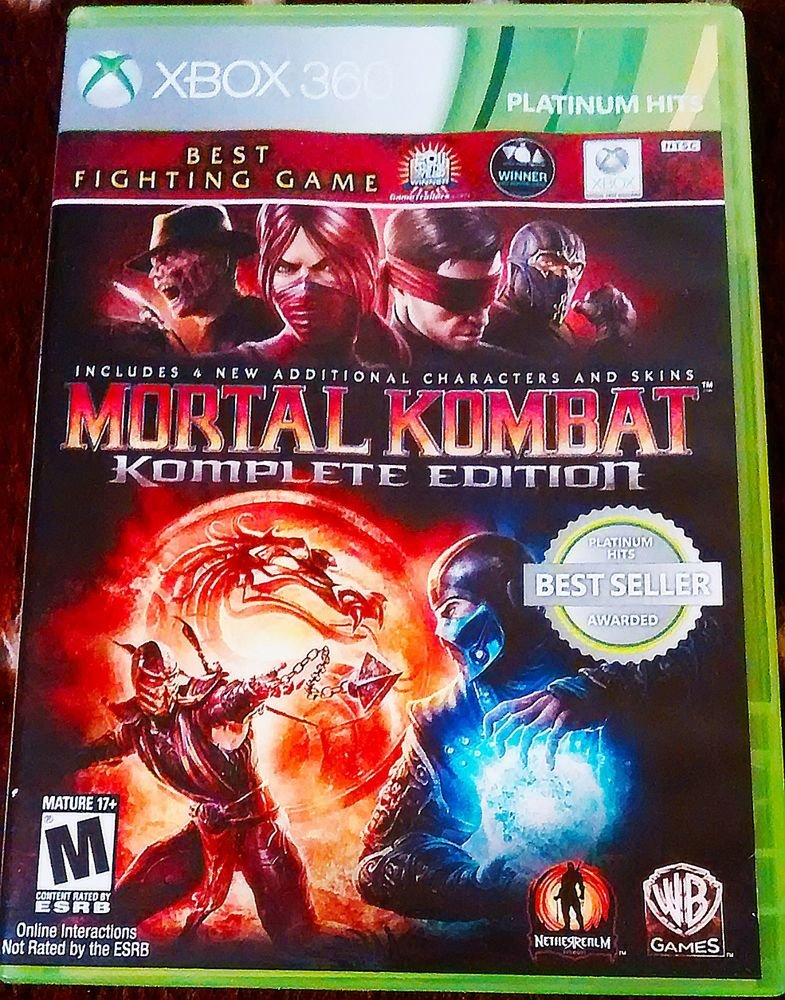 Mortal Kombat Komplete Edition (Xbox 360, 2012) Complete Very Good Condition